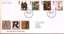 Contemporary Art Royal Mail First Day Cover Bureau fdi 11 May 1993 with insert card. refA491