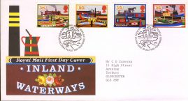 Canals Inland Waterways Royal Mail First Day Cover Bureau fdi 20 July 1993 with insert card. refA493