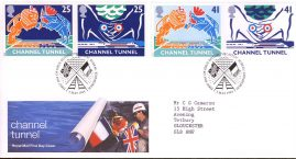 Channel Tunnel Opening Royal Mail First Day Cover Bureau fdi 3 May 1994 with insert card. refA500