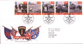 D-Day 50th Anniversary First Day Cover Bureau with fdi 6 June 1994 with insert card. refA501