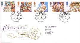 Christmas Nativity Plays First Day Cover Bureau with fdi 1 November 1994 and insert card. refA504