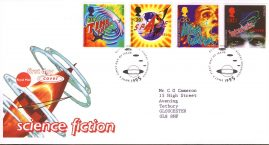 Science Fiction HG Wells First Day Cover Bureau fdi 6 June 1995 with insert card. refA509