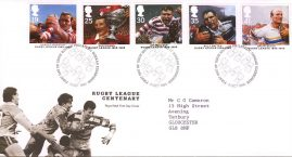 Rugby League Centenary Royal Mail First Day Cover Bureau fid 3 Oct 1995 with insert card. refA512