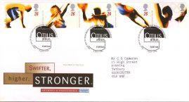 Olympic and Paralympic Games First Day Cover Bureau Edinburgh fdi 9 July 1996 with insert card. refA518