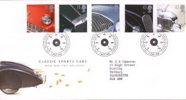 Classic Sports Cars Royal Mail First Day Cover Bureau fdi 1 Oct 1996 speedometer refA522