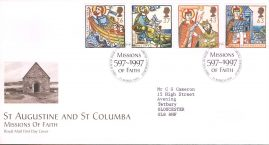 Religious Anniversaries Missions Royal Mail First Day Cover Bureau fdi 11 March 1997 with insert card. refA525