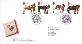 All the Queens Horses Royal Mail First Day Cover Bureau fdi 8 July 1997 refA526