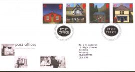 Post Offices sub Pos Royal Mail First Day Cover Bureau fdi 12 Aug 1997 with insert card. refa527