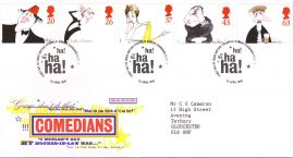 Comedians Royal Mail First Day Cover Bureau fdi 23 April 1998 with insert card refA534