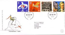 Travellers Tale Royal Mail Millennium First Day Cover Bureau fdi Toward 2000 02.02.99 with insert card. refA541