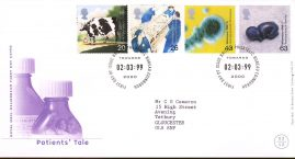 Patients Tale Royal Mail Millennium First Day Cover Bureau fdi 02.03.99 Towards 2000 with insert card.  refA542