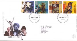 Settlers Tale Royal Mail Millennium First Day Cover Bureau fdi Towards 2000 06.04.99 with insert card. refA543