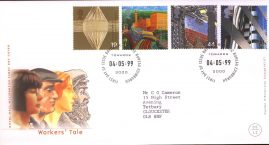 Workers Tale Royal Mail Millennium First Day Cover Bureau Towards 2000 fdi 04.05.99 with insert card. ref A545