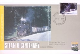 2004 Grenada FDI Florisdorf Fireless Austria Steam Bicentenary stamp commemorative cover. Very Good condition with insert card. Please see larger photo for details.