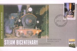2004 Granada WI BEYER PEACOCK MOGUL 2-6-0 Overseas BRITISH Steam Bicentenary stamp commemorative cover. Very Good condition with insert card. Please see larger photo for details.