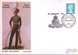 1970 National Army Museum Cover Group 11 no.5 Borse Brigade Royal Artillery BFPO Woolwich St Barbara's Day - . NB small dent to top edge. refB1