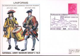 1971 National Army Museum Group 2 No.6 UNIFORMS Worcester and Sherwood Regiment Foot refB4