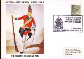 1971-08-01 National Army Museum Group 2 no9 Queens Regiment Uniform Regiment Kingston on Thames refB13