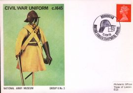 1970-06-14 National Army Museaum Group II no.3 Civil War Uniform c.1645 Roundhead handstamp refb15