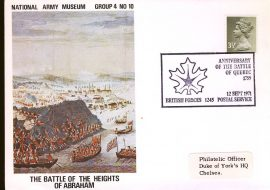 1971-09-12 National Army Museum Group 4 No.10 Battle of the Heights of Abraham Quebec refB23