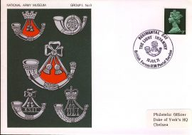 1971 National Army Museum Cover Group 1 No.9 Light Infantry refB34