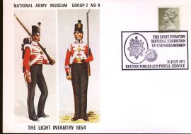 1971-07-10 National Army Museum Cover Group 2 No.8 Light Infantry 1854 refB36