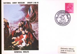1971 Anniversary of the Death of General Wolfe BFPO 1244 Army Museum Cover - Duke of York's HQ Chelsea refB40