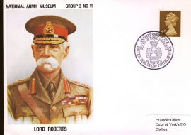 1971 Anniversary of the Dealth of Lord Roberts BFPO 1249 Army Museum Cover Group 3 No.11 addressed to Duke of York's HQ Chelsea refB41