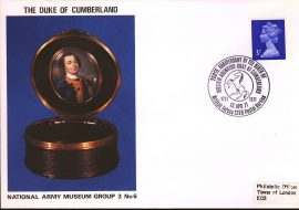 1971 William Augustus Duke of Cumberland BFPO British Forces Postal Service 1228 dated 15 April 1971. National Army Museum Cover refB52
