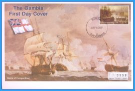 2001 Battle of Camperdown Banjul The Gambia  Numbered Mercury First Day Cover refB44 Unsealed. No insert card.
