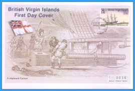 2001 British Virgin Islands HMS Pegasus Numbered Mercury First Day Cover refB48  Unsealed. No insert card.