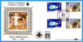 3 x 1981 Christmas Church of England Children's Society Canterbury Carried by Mail Coach Benham covers rc150