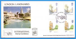 3 x 1980 London Landmarks Gutter Pairs Stamp Exhibition Covers Benham First Day Covers BOCS21 rc151