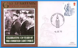 2010 Our Islands History BENHAM cover 150 yrs COMBINED CADET FORCE London Good condition. Unsealed. Blank insert card. refb1