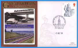2008 Our Islands History Limited edition Limited Edition Benham cover MANCHESTER 50th Anniversary Britain's First Stretch of Motorway refc65
