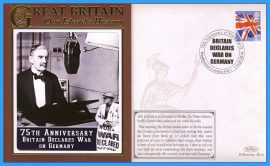 2014 Our Islands History Limited Edition Benham cover 75th Anniversary Britain Declares War on Germany WESTMINSTER London refc69