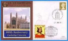 2009 Our Islands History Benham Limited Edition Benham cover CAMBRIDGE UNIVERSITY King John refc72