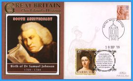 2009 Our Islands History 300th Anniversary Birth of Dr Samuel Johnson OXFORD English Author refc76
