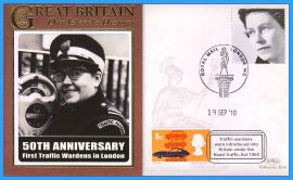 2010 Our Islands History Limited Edition Benham cover 50th Anniversary First Traffic Wardens in London WC 1960 refc79