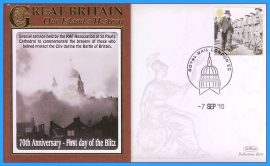 2010 Our Islands History Benham Limited Edition Benham cover RAF St Pauls Cathedral special service 70th Anniversary First day of the Blitz LONDON refc80