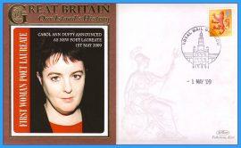 2009 Our Islands History Limited Edition Benham cover CAROL ANN DUFFY 1st woman Poet Laureate GLASGOW refc83