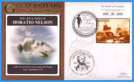 2008 Our Islands History Limited Edition Benham cover Life & Times of HORATIO NELSON Battle of Trafalgar Micronesia Search for an Arctic route to the Pacific refc85