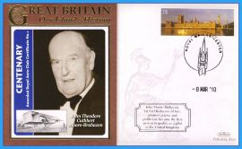 2010 Our Islands History Limited Edition Benham cover 1st Certified Pilot in the UK John Theodore Cuthbert Moore-Brabazon LEICESTER refc86
