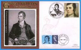 2009 Our Islands History Benham Limited Edition Benham cover Robert 'Rabbie' Burns 1759 ALLOWAY refc88