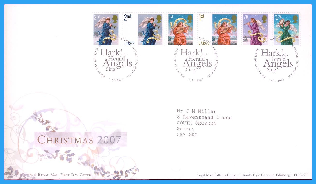2007-11-06 Christmas First Day Cover refc62