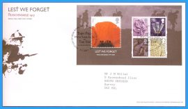 2007-11-08 Lest We Forget First Day Cover Passchendaele 1917 stamps minisheet refc64