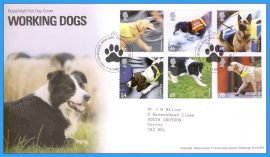 2008-02-05 Working Dogs First Day Cover Sheep Dog Border Collie refc67