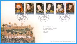 2008-02-28 Royal Households in History First Day Cover Lancaster and York Kings and Queens refc68