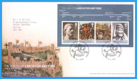 2008-02-28 Royal Households in History First Day Cover stamp Mini Sheet Lancaster and York refc70