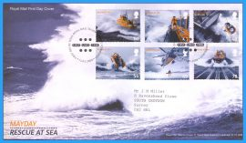 2008-03-13 MAYDAY Rescue at Sea Lifeboats First Day Cover refc71